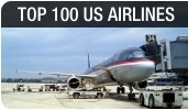 Top-100 U.S. Airlines ranked by passenger and cargo volumes