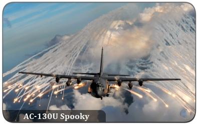 The AC-130U Spooky Gunship