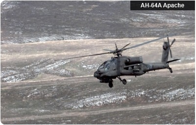 AH-64 during live-fire exercise