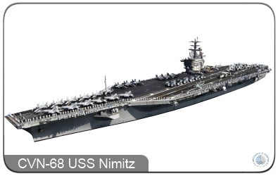 The CVN-68 USS Nimitz Aircraft Carrier