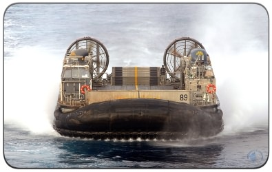 The Landing Craft Air Cushioned (LCAC) Hovercraft