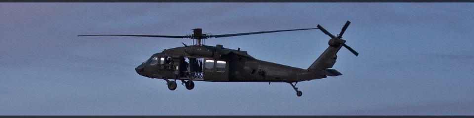 UH-60 Black Hawk seen from the side